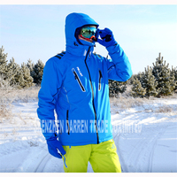 New Outdoor Winter Men's ski jacket water proof,breathable thermal snowboard suit outcoat snow skiing jacket green, blue, black