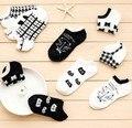 Cat quente e confortável algodão menina de fibra de bambu meias das mulheres tornozelo baixo femininas invisível cor menino menina hosier 1 par = 2 pcs ws66