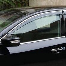 Exterior Plastic Window Visor Vent Shades Rain Guard 4PCS  Fit  FOR Nissan ALTIMA 2013-2018