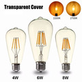 Retro LED Edison Bulb Light E27 4W/6W/8W ST64 LED Filament Light Vintage Lamp 2200/2700K Warm White Lighting For Bar Cafe AC110V
