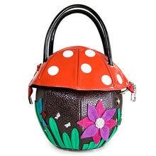 Peronalized shaped handbag lolita girls dot cute mushroom bag 3D flower novelty cute funny bags