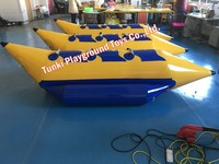 Banan лодка 3 мест Aqua запустить Аквапарк Слайд Препятствие надувная водяная горка
