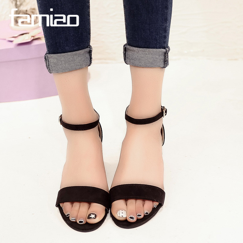 Summer women sandals open toe flip flops women 39 s sandals thick heel women shoes korean style Korean fashion style shoes