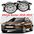 for DACIA DUSTER 2010-2015 for front bumper high brightness LED Fog lights lamps Car styling white 1set
