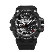 цена Luxury Brand Men Sport Digital Led Watch G Military Multifunction Shock Wristwatch 5atm Waterproof Relogio Masculino онлайн в 2017 году
