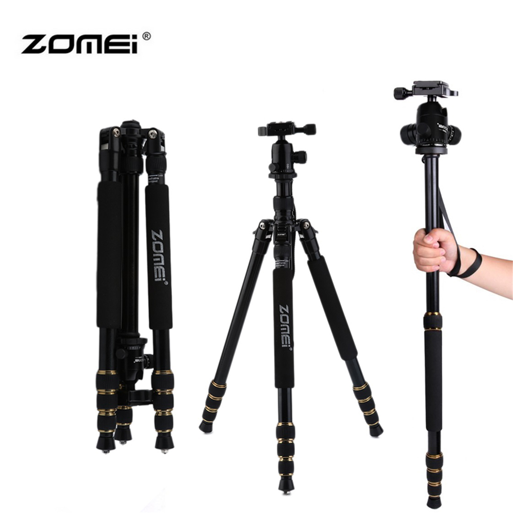 ZOMEI Z688 Professional Portable Camera Tripod Stand Monopod For DSLR Camera Digital Camera With Ball Head zomei z888 portable stable magnesium alloy digital camera tripod monopod ball head for digital slr dslr camera