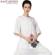 Chinese traditional taichi uniform floral print women tai chi suit zen clothing kungfu outfit wushu martial art costume KK478 Q