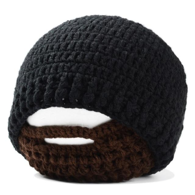 Handgemaakte Gebreide Haak Baard Hoed Fiets Masker Ski Cap Romeinse