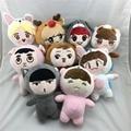 Korea Fashion Kpop EXO Superstar Baek Hyun Chan Yeol Kai Se Hun Su Ho D.O  Luhan Chen Cartoon Plush Toy Stuffed Dolls