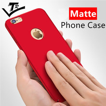 Red Cases For iPhone 6 6s Plus case Luxury Phone Cover For iPhone 7 Plus Hard Frosted Back shell Full Protection For 5 5s se
