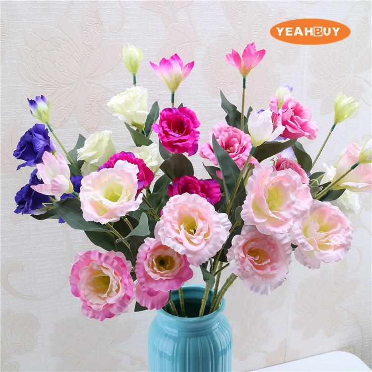 10pcs artificial silk Platycodon grandiflorum flowers balloon flower ...