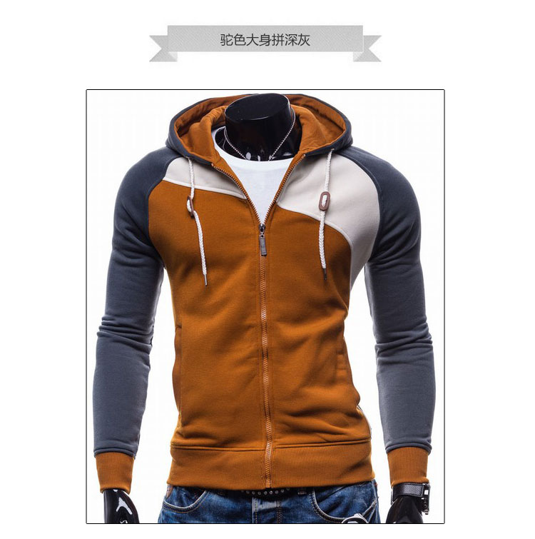 17 Hoodies Men Sudaderas Hombre Hip Hop Mens Brand Leisure Zipper Jacket Hoodie Sweatshirt Slim Fit Men Hoody XXL 7