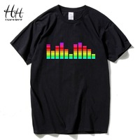 HanHent DJ Rock T Shirt Men Music Cotton Loose Short Sleeve Tee Shirts Sound Fashion Swag
