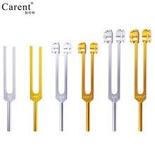 CARENT Новые поступления 128 Гц 256 Гц 512 Гц Золотой Серебряный цвет алюминиевый сплав камертон медицинский инструмент, аксессуары