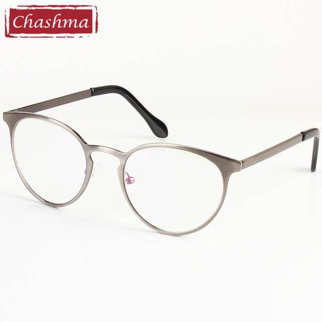 Chashma Pequeno Quadro Olho Simples Espelho Óculos Redondos Óculos Ópticos Quadros para Homens e Mulheres