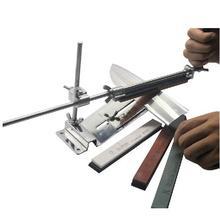 Verbeterde Vaste hoek Messenslijper Kit Full Metal Rvs mes gelikter whetstone + Professionele 4 Slijpstenen