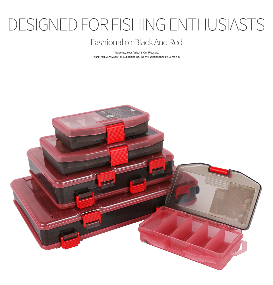 Kingdom Fishing Tackle Box Fish Lures Hooks Baits Compartments Storage Case Box Fishing Tackle Box for Pesca Fishing Accessories (6)