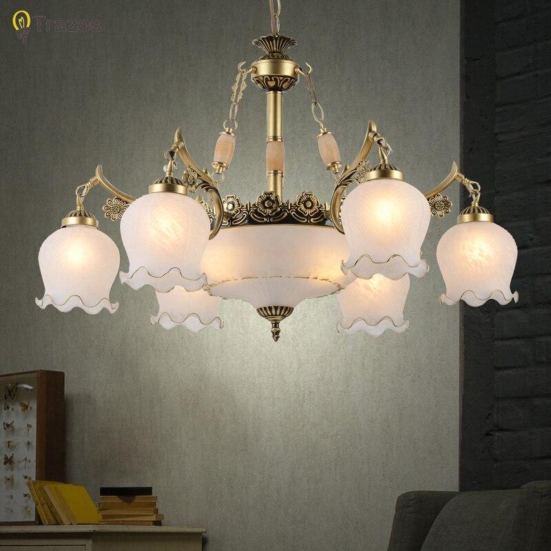 2018 Nuovo arrivo Caldo di vendita lampadari genuino dell'annata lampadario fatto a mano simili a fiori d'oro di alta qualità della novità led lampadario