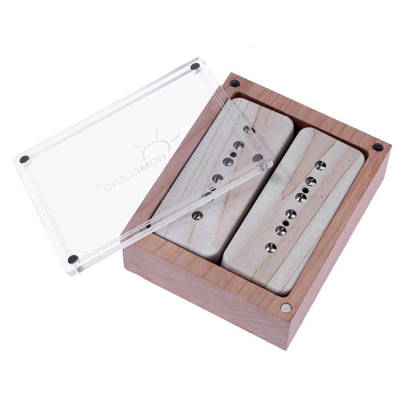 Set de ramassage de guitare Alnico V 5 Soapbar P90 cou Bridge pour pièces de guitare électrique