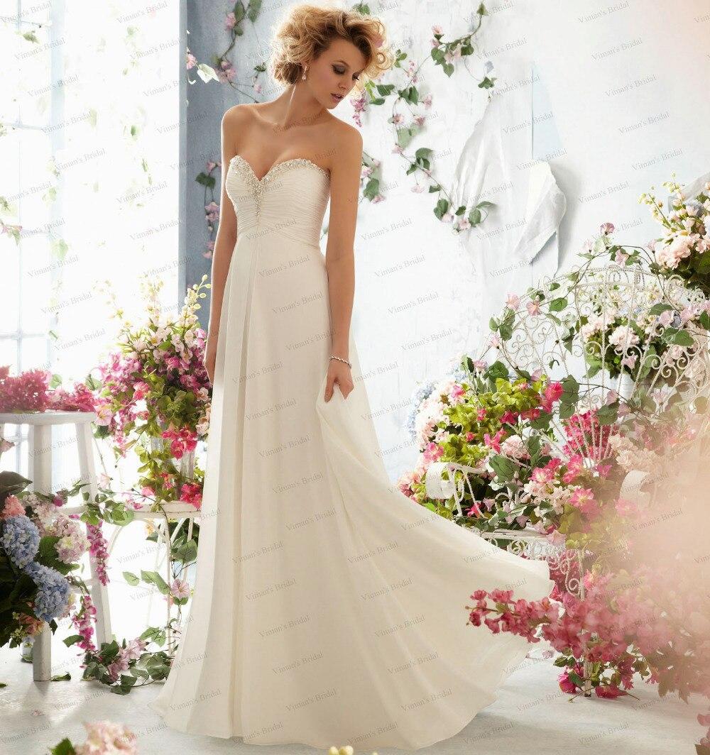 Cheap Wedding Dresses For Sale: Beach Chiffon Sweetheart Beadings Summer Style Wedding