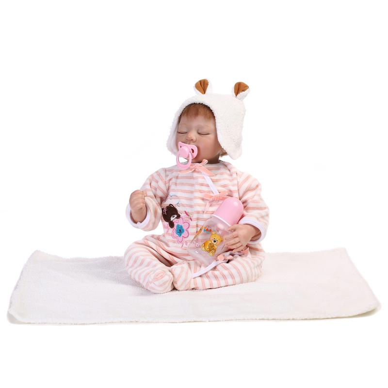 Soft Cutton Body Silicone Reborn Baby Dolls Handmade 22 Inch 50 55 CM Newborn Babies Doll