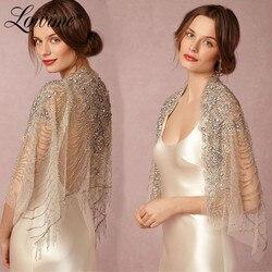 Couture Kristallen Kralen Bolero Cape Vrouwen Tulle Wedding Bolero Mantel 2019 Custom Made Jas Schouderophalen Luxe Bruids Jas Op Verkoop