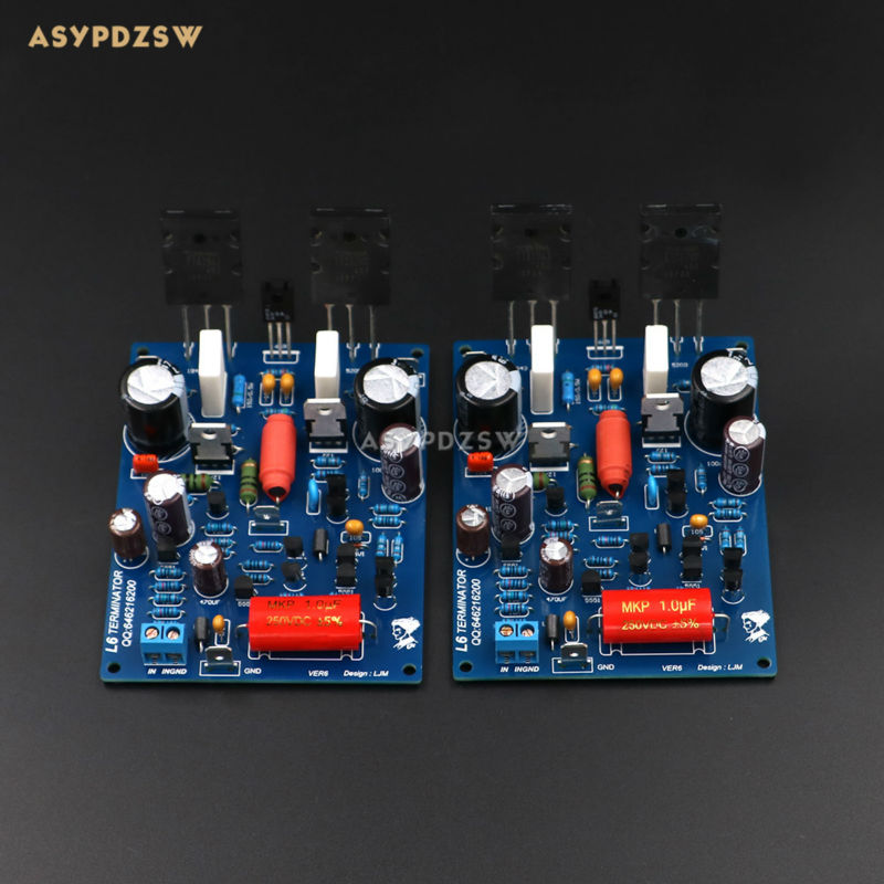 2 PCS Channel L6 power amplifier board Low noise ultra linear bipolar transistor amplifier finished board free shipping 2sk170 gr to 92 100pcs k170 2sk170 n channel silicon transistor field effect transistor low noise audio amplifier