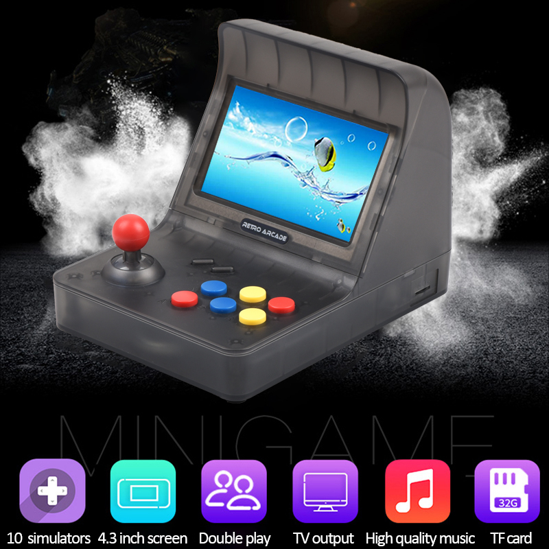 Portable Retro Mini Handheld Game Console 4.3 Inch 64bit 3000 Video Games classical Family Game Console Gift RETRO ARCADE Handheld Game Players     - title=