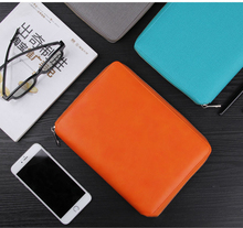Large Capacity Padfolio Document Organizer caderno A5 A6 leather zipper agenda planner notebook With Calculator Or Memo Pad
