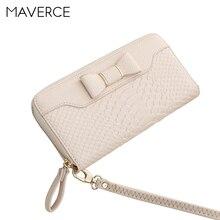 Купить с кэшбэком 8 Color Korean Style Retro Women Wallets Bow tie Women's Purse  Long Design Zipper Ladies Wallet  PU Leather Card Holder