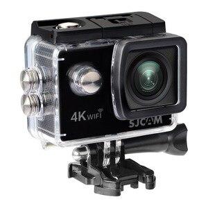 """Image 2 - Sjcam câmera de ação sj4000 air 4k, câmera full hd, 4k, 30fps, wifi, tela de 2.0 """", mini, para capacete, à prova d água câmera de gravação esportiva dv"""