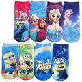 6Pair/lot 3D Kids Socks Cartoon Pattern Printing Cotton Children's Girls Boys Baby Kids Socks 20 Kind Of Style Fit 2-10 Year