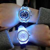 Relojes deportivos luminosos LED para Mujer, Relojes de cuarzo para Mujer, Relojes de pulsera de silicona para Mujer, Relojes luminosos para Mujer