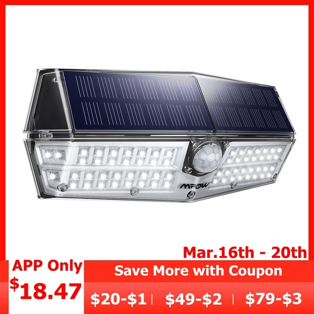Mpow CD174 3 Adjustable Model 66 LED Bright Solar Powered Outdoor Lights IP66
