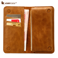 Jisoncase Genuine Leather Wallet Case For IPhone 7 4 7 Fashion Magnetic Purse Bag For IPhone