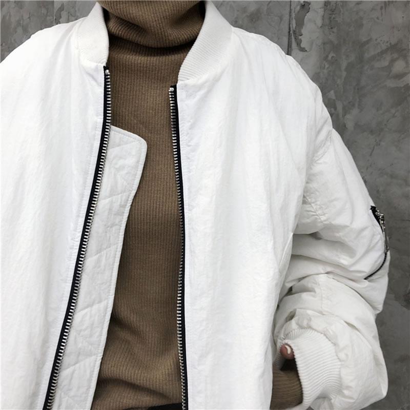 Black white Couleur Solide De Collier Plissée Casual Stand Parka Nouvelle 2018 Femmes Hiver Ljt4761 Complet Corée Arrivée Ljt4761 xitao Manches Mode Patchwork x1OFO