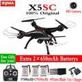 100% Original SYMA X5SC 2.4G 6-Axis 4CH RC Helicóptero Quadcopter Drone Con Cámara de 2MP HD aérea Profesional Dron Juguetes