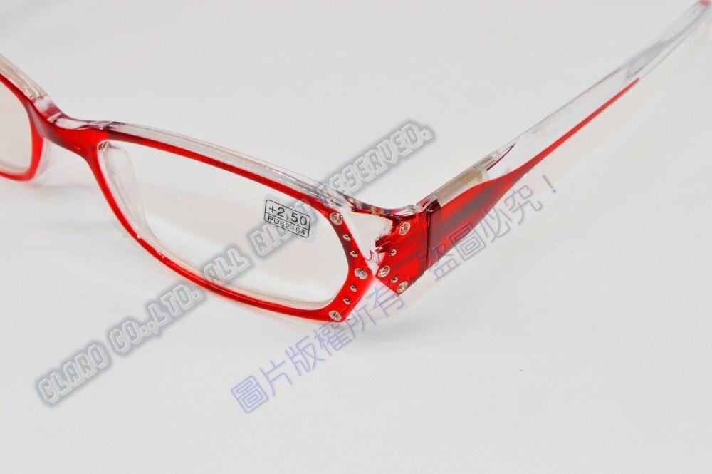 2fe9fe6340  !TWO PAIRS!  full rim Gradient rose red frame Diamond decoration men women  reading glasses+1.00+1.50+2.00 +2.50+3.00+3.5+4.0-in Reading Glasses from  ...