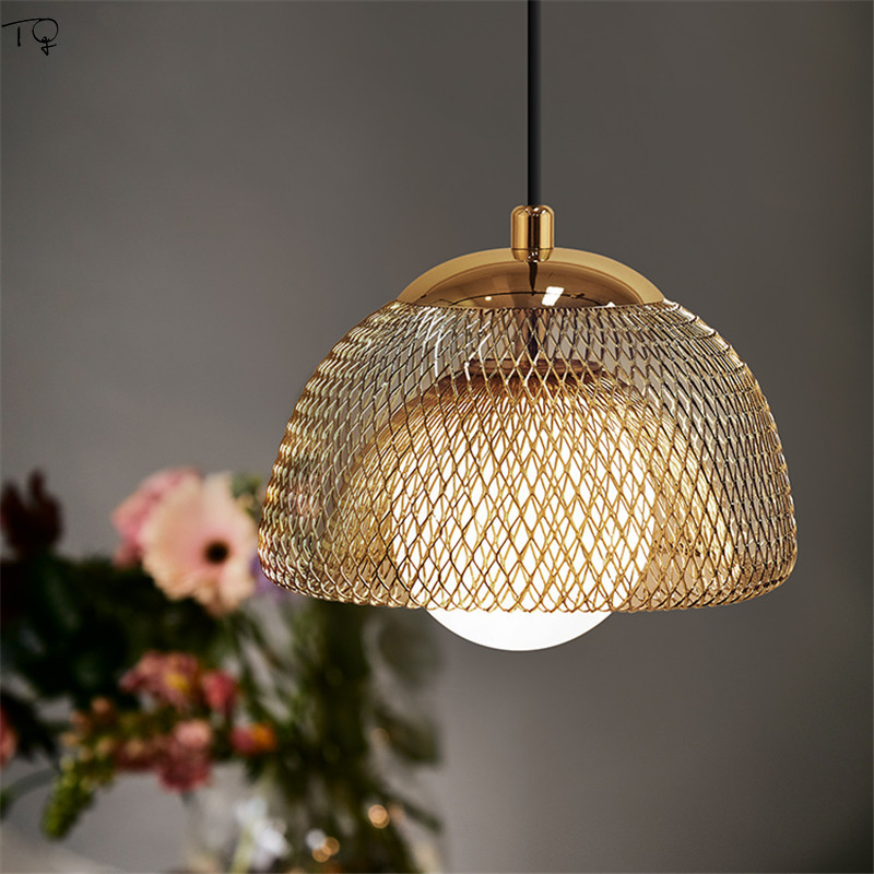 Nordic Ins Pendant Lights Led Dining Hall Bar Japanese Iron Bedroom Creative Personality Studio Decoration Art Hanging Lamps