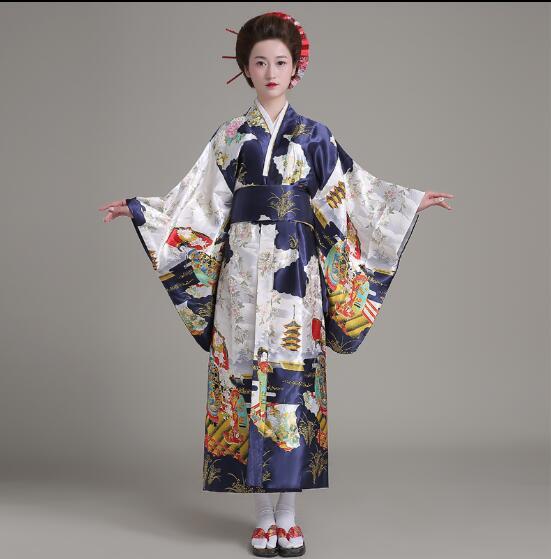 sito affidabile f392a e4849 US $28.0 |Giapponese vestiti prestazioni costume di scena vestito da Donna  Kimono Geisha Giapponese Sakura-in Abbigliamento Asia e Isole del Pacifico  ...