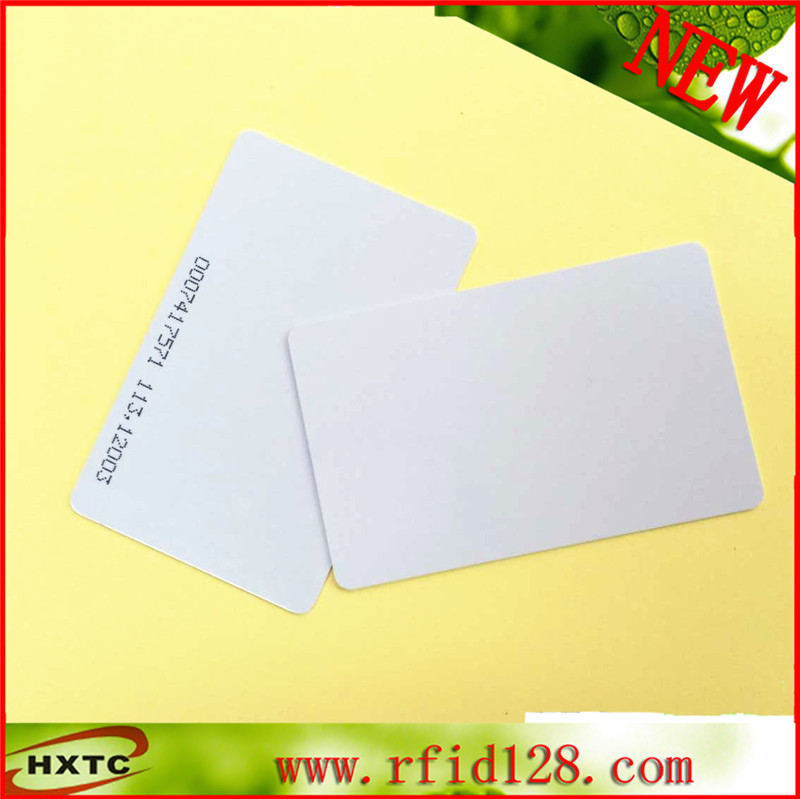 Free Shipping 50PCS/Lot 125KHZ Proximity EM4100 Chip Blank Thick ID Card with 64bits Read only Memory 20pcs lot contact sle4428 chip gold card with magnetic stripe pvc blank smart card purchase card 1k memory free shipping