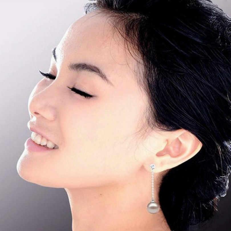 Versión coreana de los pendientes de borla de perlas de cristal de Flash joyería de moda pendientes largos de perlas de imitación bohemios pendientes de mujer