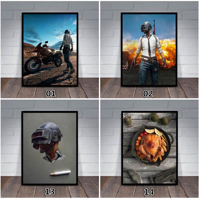 3D Wallpaper PUBG Winner Winner Chicken Dinner Photo Frame Shootout Boy  Room Wall Stickers Bedroom Living