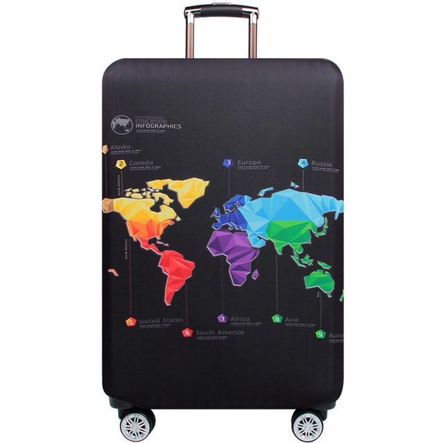 HMUNII карта мира, дизайнерский защитный чехол для багажа, Дорожный Чехол для чемодана, эластичные пылезащитные Чехлы для 18-32 дюймов, аксессуары для путешествий - Цвет: Data graph
