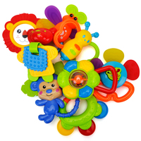 Baby Teether Rattle Suitcase Toys 8 pcs Latest Rattle & Teether Toys in Mini Suitcase Set Gift for Newborn Baby