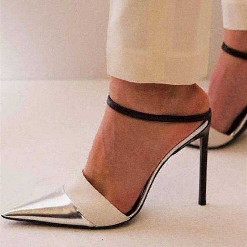 6553ac79 Boda Defilè Mujeres Alto Jinjoe Beige Aguja De Punta Tacones Tobillo Ol  Bordado Sandalias Zapatos Correa Mujer Vestido Ensueño Bombas ...