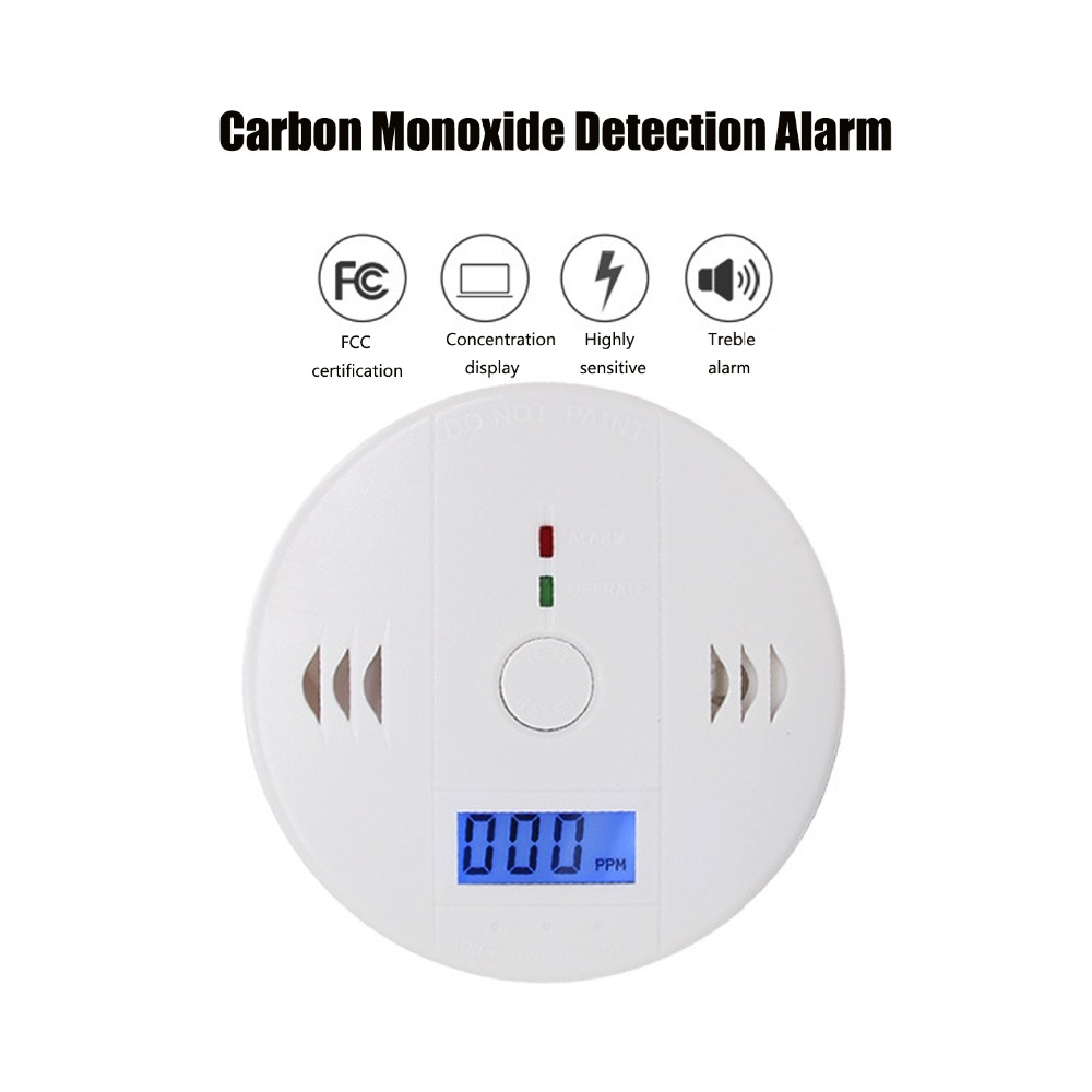 Carbon Monoxide Detector Smoke Alarm Gas Sensor CO Detector Alarm LCD Security Gas CO Monitor (3 AA Battery Not Included)