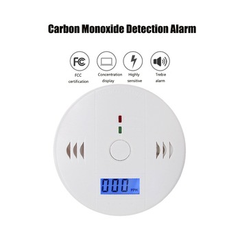 Carbon Monoxide Detector Smoke Alarm Gas Sensor CO Detector Alarm LCD Security Gas CO Monitor (3 AA Battery not included) lcd co carbon monoxide smoke detector alarm poisoning gas warning sensor monitor device gv99
