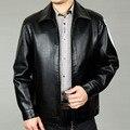 2016 весна осень мужская кожаная одежда марка дизайн кожаная куртка имитация мужчины бизнес свободного покроя пальто человек большой размер XXXL