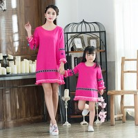 Mother Daughter Dresses Family Matching Clothes Mom Daughter Dress Wedding Clothes High Quality Mother Baby Girl